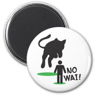 No Wai! CAT ATTACK! 2 Inch Round Magnet