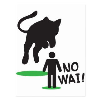 No Wai! CAT ATTACK! Postcard