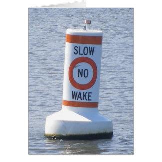 No Wake Stationery Note Card