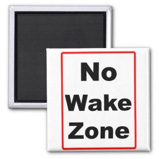 No Wake Zone 2 Inch Square Magnet