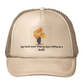No Wall Flower Cap Trucker Hat