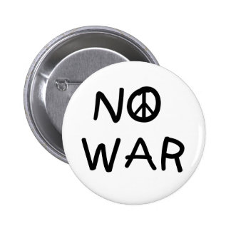 NO War 2 Inch Round Button
