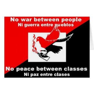 no war between nations bumpersticker card