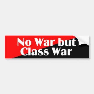 No War but Class War 2 sticker Car Bumper Sticker