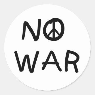 NO War Classic Round Sticker