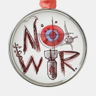 no war text based illustration metal ornament