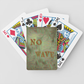 No Wave Soft Grungy Design Bicycle Playing Cards
