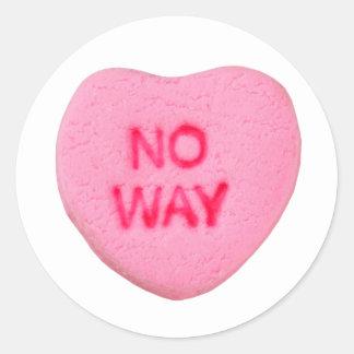 No Way Anti-Valentine Classic Round Sticker
