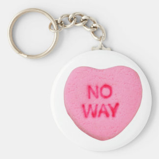 No Way Anti-Valentine Keychain
