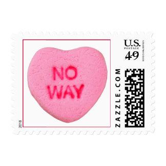 No Way Anti-Valentine Postage