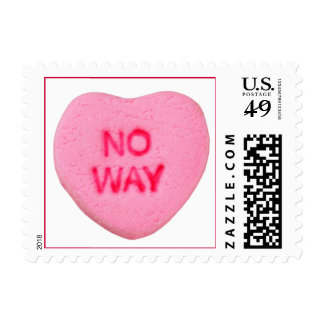 No Way Anti-Valentine Stamp