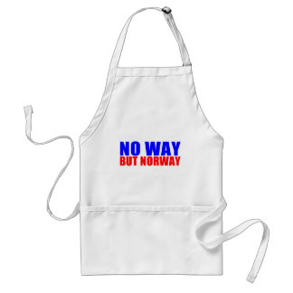 NO WAY BUT NORWAY ADULT APRON
