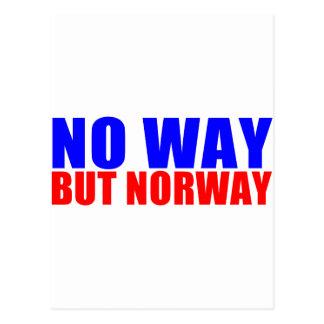 NO WAY BUT NORWAY POSTCARD