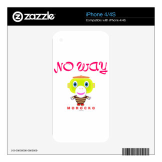 No Way-Cute Monkey-Morocko Skins For iPhone 4S