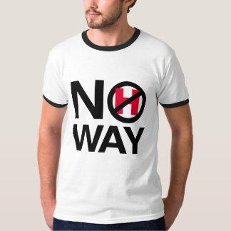No Way Hillary - No How - - Anti-Hillary - T-Shirt