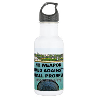 no weapon formed against me 18oz water bottle
