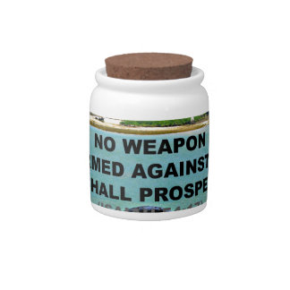 no weapon formed against me candy jar