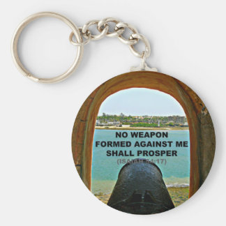 no weapon formed against me key chain