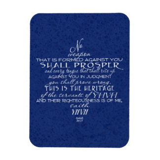 No Weapon Star of David Blue Magnet