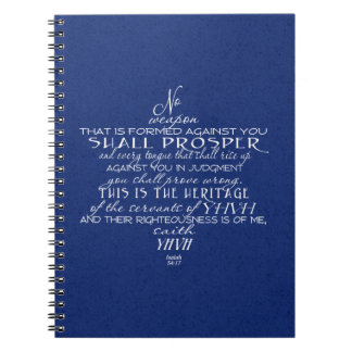 No Weapon Star of David Blue Note Book
