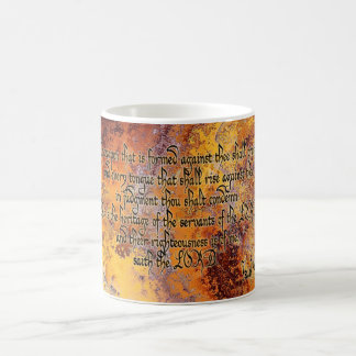 No weapon that is formed will prosper coffee mug