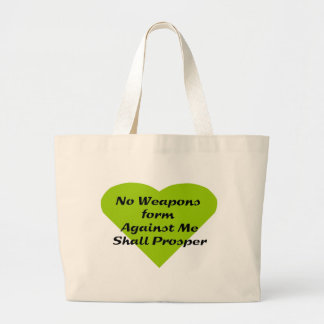 No Weapons formed against me shall prosper Jumbo Tote Bag