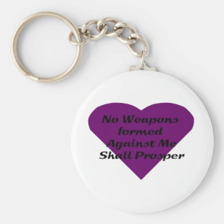 No Weapons formed against me shall prosper Keychain