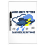 No Weather Pattern Can Shock Me Anymore Dry-Erase Whiteboards