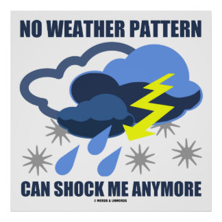 No Weather Pattern Can Shock Me Anymore Poster