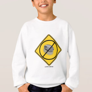 No Web Surfing (Diamond Yellow Cross-Out Mouse) Sweatshirt