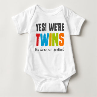 No, We're Not Identical Baby Bodysuit