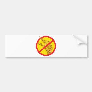 No Wheat Bumper Sticker