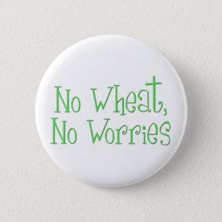 No Wheat No Worries Pinback Button