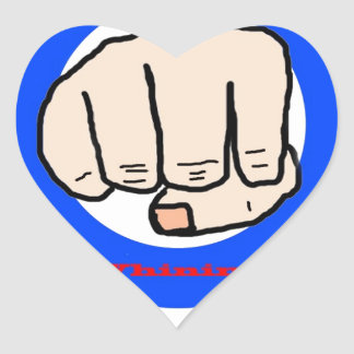 No Whining Heart Sticker