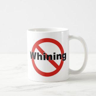 no whining classic white coffee mug