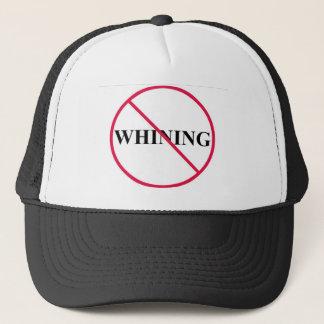 no whining trucker hat