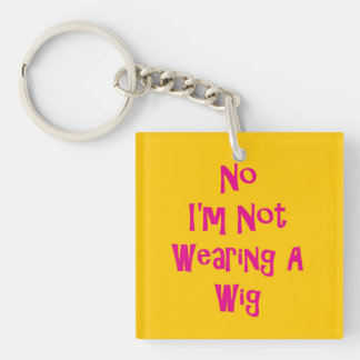 No Wig Double-Sided Square Acrylic Keychain
