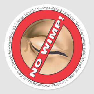 No Wimp! Badge Stickers