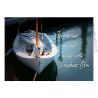 No Wind in My Sails Sailboat Card