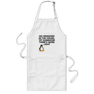 No windows in the house... aprons