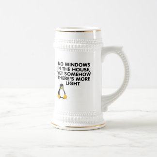 No windows in the house... beer stein