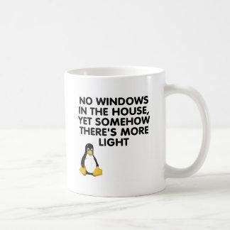 No windows in the house... coffee mug