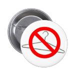 No Wire Hangers!!! 2 Inch Round Button