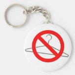 No Wire Hangers!!! Basic Round Button Keychain