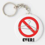 No Wire Hangers Ever! Basic Round Button Keychain