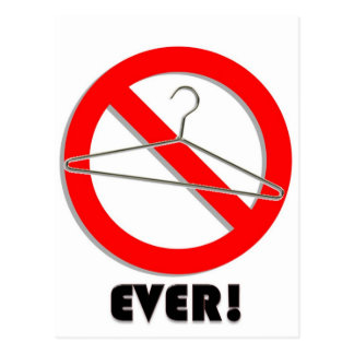 No Wire Hangers Ever! Postcard