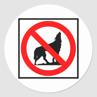 No Wolves Highway Sign Stickers