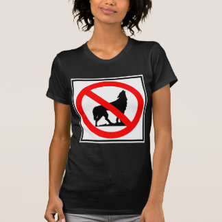 No Wolves Highway Sign T-Shirt