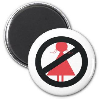 No Woman 2 Inch Round Magnet