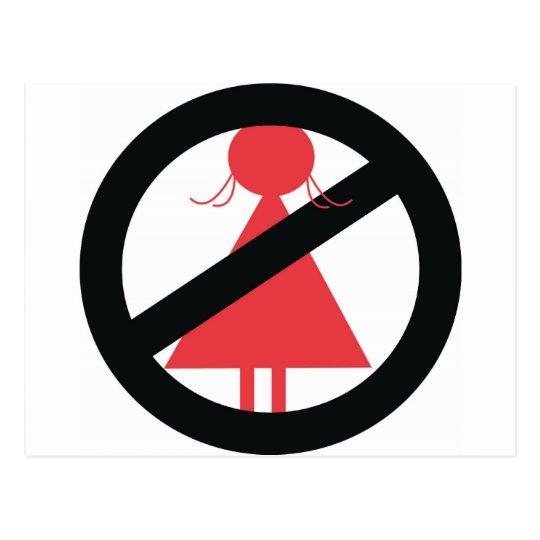No Woman Postcard